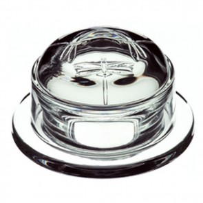 Butter dish / Jam pot in glass with dome - Singly sold