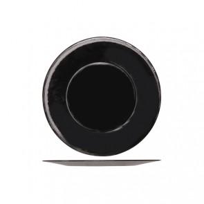 "Large round presentation plate 12"" / 31cm black - Inca - Bormioli Rocco"