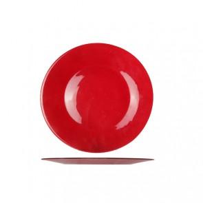 "Large round presentation plate 12"" / 31cm red - Inca - Bormioli Rocco"