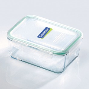 Rectangular food container with airtight lid 110cl/ 1.2qt (oven safe)- Micro-waves - Glasslock
