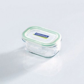 Rectangular food container with airtight lid 15cl/ 0.16qt (oven safe) - Micro-waves - Glasslock