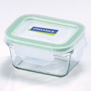 Rectangular food container  with airtight lid 18cl/ 0.19qt (oven safe) - Micro-waves - Glasslock