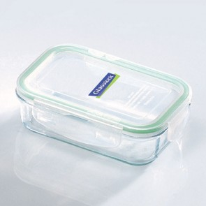 Rectangular food container  with airtight lid 40cl/ 0.42qt (oven safe) - Micro-waves - Glasslock