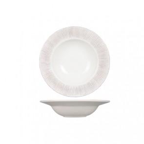 """Round pasta bowl 14"""" / 35cm white patina - Epis - Cosy & Trendy"""