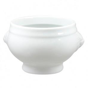 """Porcelain soup bowl white 4.7"""" / 12cm Tête de lion - Tête de lion - Cosy & Trendy"""