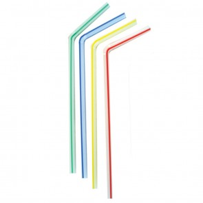 Chalumeau / paille colorée flexible 23 cm Ø 0,5 cm - Lot de 250 - Pailles - AZ boutique