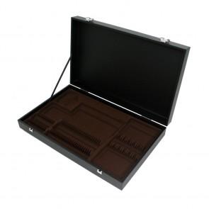 Coffret en bois noir pour ménagère 48 ou 50 pièces