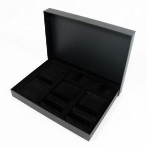 Coffret cartonné noir pour ménagère 48 pièces
