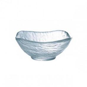 "Square transparent glass cup 4.7"" / 12cm"