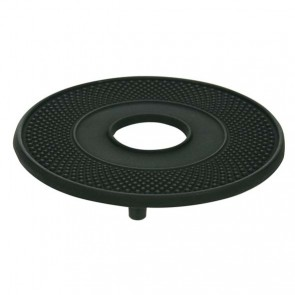 Round Teapot mat 5.12in / 13.5cm in black cast iron - Theekan Fonte - Cosy & Trendy