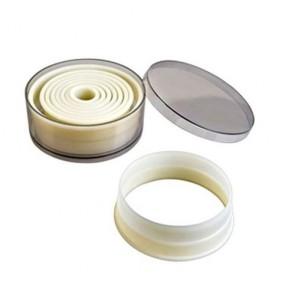 Cercle à vacherin en inox 18/10 - hauteur 6cm - diamètre 28cm