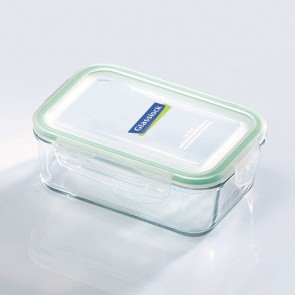 Rectangular food container with airtight lid 71.5cl/ 0.75qt (oven safe) - Micro-waves - Glasslock
