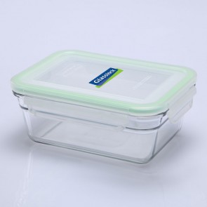Rectangular food container  with airtight lid 48cl / 0.5qt (oven safe) - Oven - Glasslock
