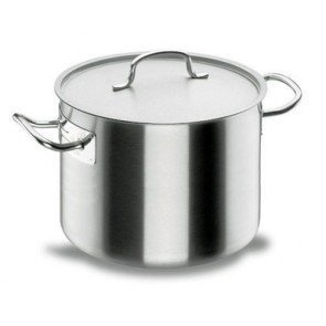 Short stock pot Ø 24cm with lid - induction stainless steel 18/10 - Chef Classic - Lacor