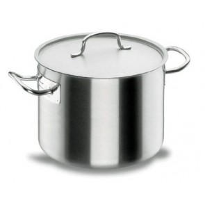 Short stock pot Ø 28cm with lid - induction stainless steel 18/10 - Chef Classic - Lacor