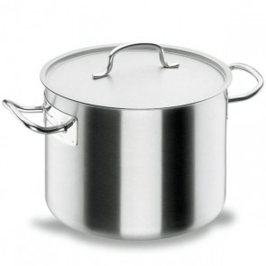 Short stock pot Ø 20cm with lid - induction stainless steel 18/10 - Chef Classic - Lacor