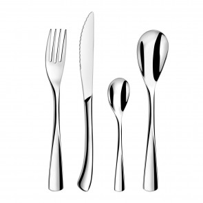 24 piece cutlery set 18/0 stainless steel mirror-finished - Vision - Amefa