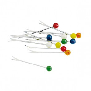 Escargot fork - 2 pikes - Batch of 12 - Matching colors - Paderno