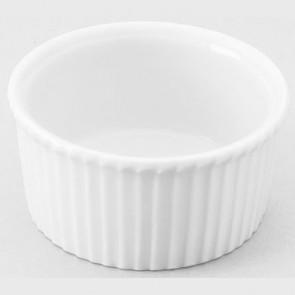 "Porcelain classic pleated ramekin 1oz / 3cl white 2"" / 5cm"
