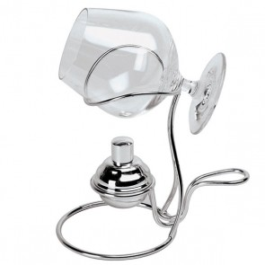 Brandy warmer in silverplated stainless steel - Degustation - Paderno