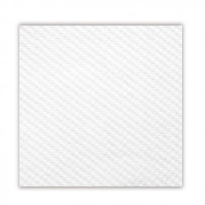 Serviette blanche en papier tissu 1 pli 30 x 30cm - Lot de 100 - Serviettes 1 pli - AZ boutique