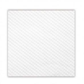 Serviette blanche en papier tissu 1 pli 33 x 33cm - Lot de 100 - Serviettes 1 pli - AZ boutique