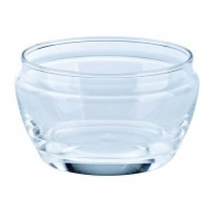 Round transparent appetizer glass 4.7oz / 14cl with lid - Set of 6