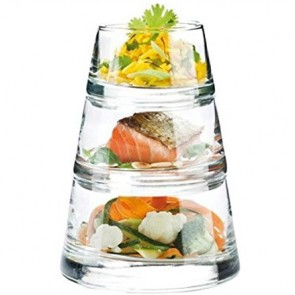 Pyramid appetizer glasses – 3 pieces - Singly sold