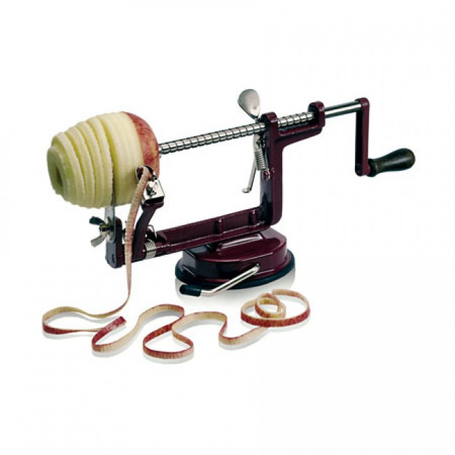 Suction cup apple peeler