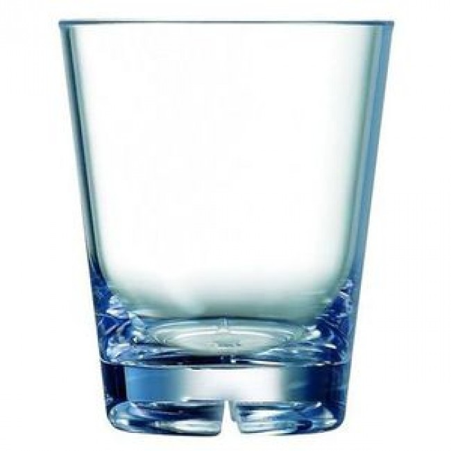 Water glass 15oz / 44cl – Old fashioned polycarbonate goblet – Set of 6 - Outdoor - Arcoroc