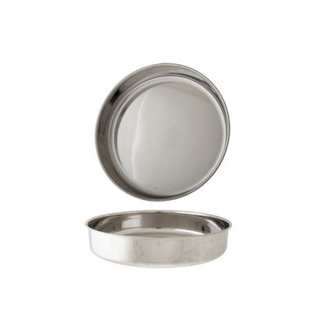 Round Stainless Steel Bar Tray 12 30, Round Stainless Steel Tray