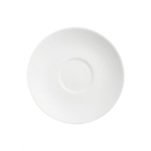 "White porcelain coffee saucer 4,9"" / 12.5cm"
