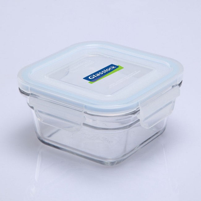 Square food container with airtight lid 40cl/0.4qt (oven safe) - Oven - Glasslock