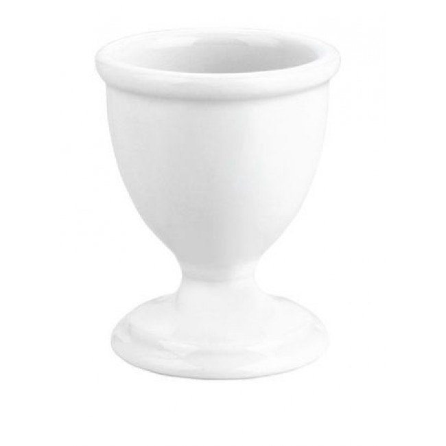 Traditional porcelain footed egg cup 1oz / 4cl white - Pillivuyt