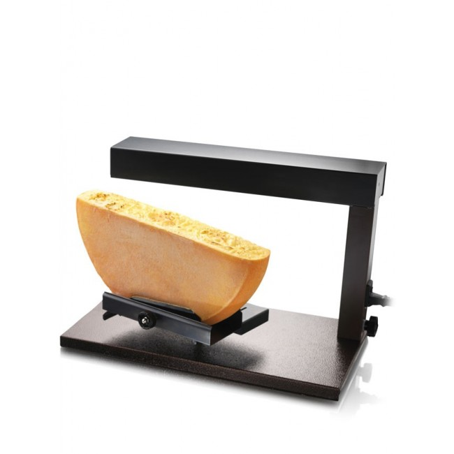 Cheese raclette grill for half portion - steel