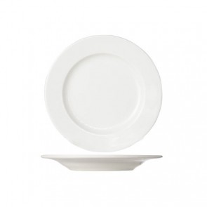 Round white cream dinner plate 24 cm high quality porcelain - Set of 6 - Buffet - Cosy & Trendy
