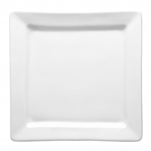 "Square porcelain mini plate 4"" / 11cm x 4"" / 11cm white - Quartet"