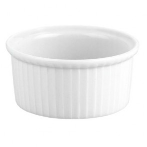 "Porcelain classic pleated ramekin 5oz / 15cl white 4"" / 9cm - Buffet - Pillivuyt"