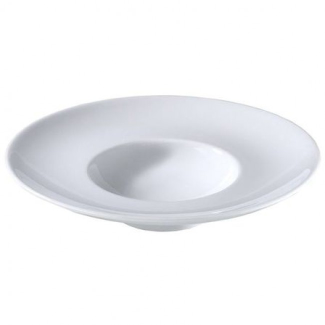 "Porcelain degustation plate 10"" / 26.5cm white - Louna - Pillivuyt"