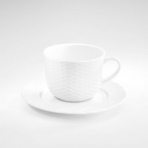 "Porcelain breakfast saucer 6"" / 16cm white - Basket - Pillivuyt"
