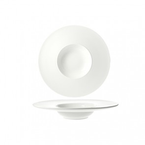 """Appetizer round cup 12x2"""" / 30x5.5cm white - Rings - Cosy & Trendy"""