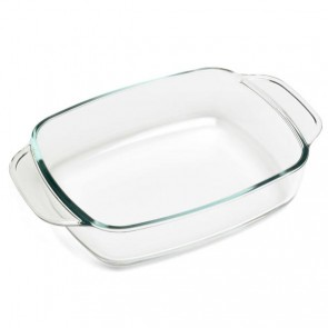 Rectangular glass oven dish 10.6 x 7""