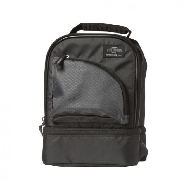 c52439d27114 Insulated dual compartment lunch bag black - Cameron - Thermos