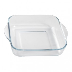 Squared glass oven dish 9""