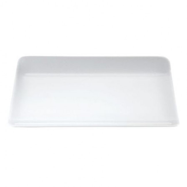 "Rectangular porcelain plate 11"" / 34cm x 5"" / 16cm white - Pillivuyt"