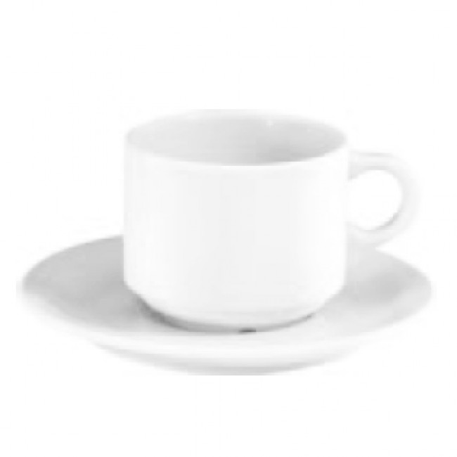 Porcelain mocca cup 3oz / 10cl white - Europe - Pillivuyt