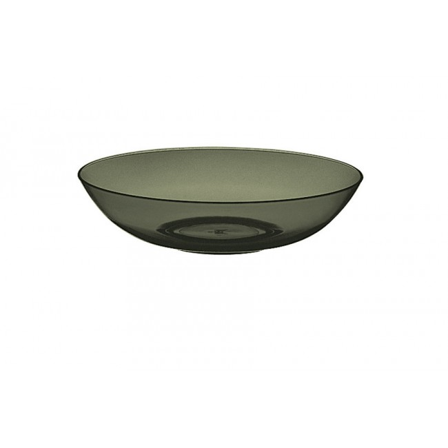 Assiette creuse onyx Ø18cm en polycarbonate - Lot de 6