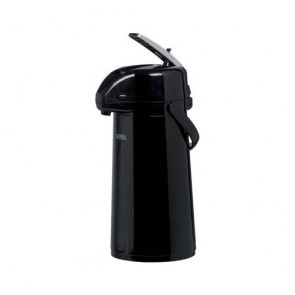 Pump pot with lever 34oz / 1.9L black