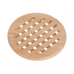 Plate mat round in wood 19,5cm x 1,5cm - Bois - Cosy & Trendy