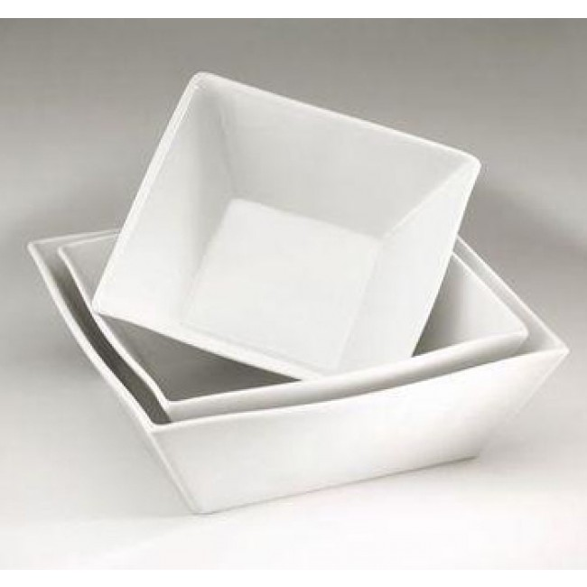 "Porcelain salad bowl 7"" / 7"" (18x18cm) 34oz / 100cl white - Quartet - Pillivuyt"